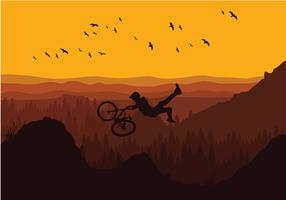 Bike Trail Evening Free Vector