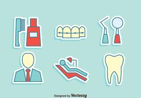 Dentist Element Icons Vector