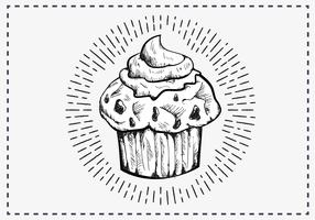 Free Hand Drawn Muffin Background