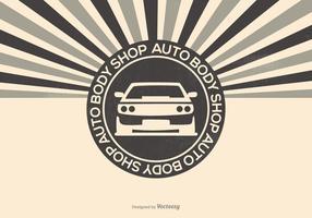 Auto Body Shop Illustration