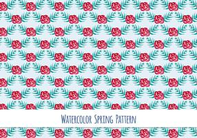 Free Vector Watercolor Pattern with Beautiful Flowers