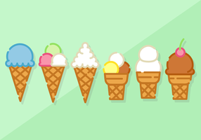 Free Minimalist Ice Cream Vector
