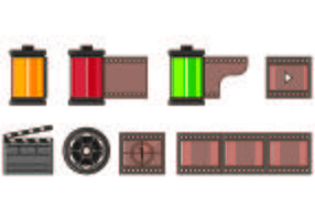 Set Of Film Canister Icons