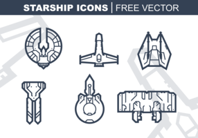 Starship Icons Free Vector Pack