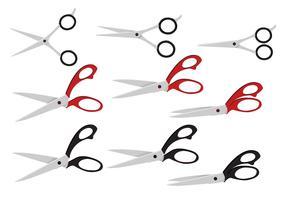 Realistic Scissors Vector Set