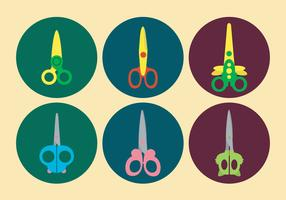 Cute Scissors Vector Set