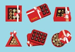Brigadier brown cookies box vector illustration