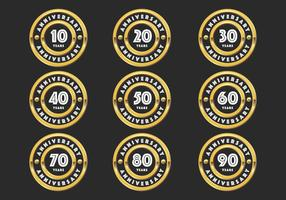 Gold anniversary badges