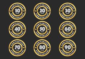 Gold anniversary badges