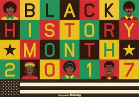 Vector Color Blocked Black History Background