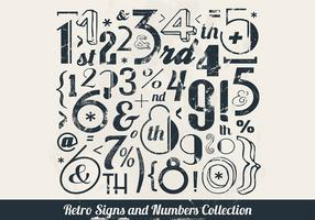 Stamped Numbers Collection Vector