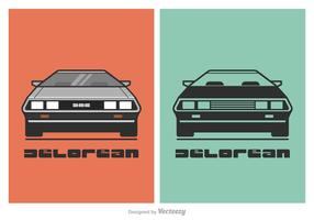 Free Vector DeLorean Car Illustration