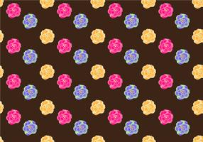 Free Camellia Seamless Pattern Vector Illustration
