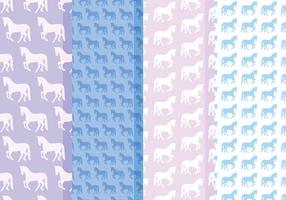 Vector Horses Patterns