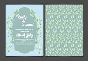Vector Blue Elegant Wedding Invitation