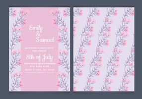 Vector Elegant Roses Wedding Invitation
