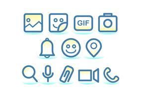 Tecnologia Facebook Messenger Icono