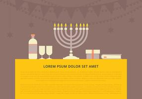 Hanukkah Background Template