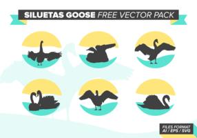 Siluetas Goose Free Vector Pack