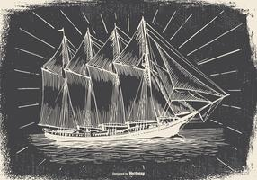 Vintage Ship Illustration