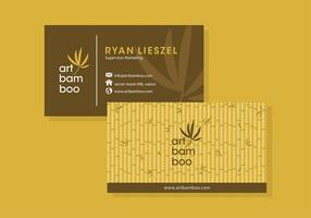 Bamboo Business Card Template Free Vector