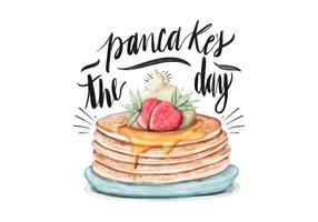 Pancake's Day Illustration