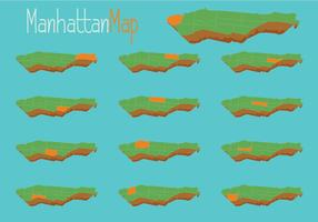 Free Vector Manhattan Map