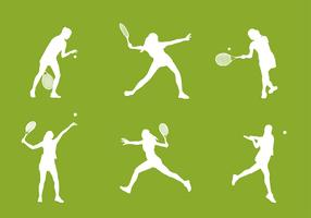 Tennis Silhouette Free Vector