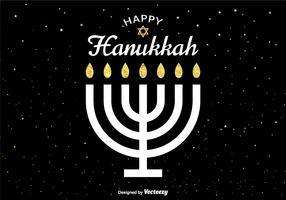 Vector Happy Hanukkah Card