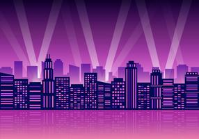 Free City Lights Vector Illustration