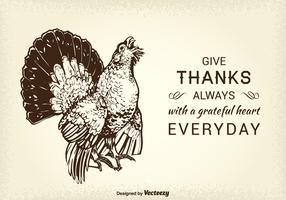 Free Thanksgiving Wild Turkey Vector Card