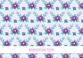 Free Vector Watercolor Pattern With Floral Theme