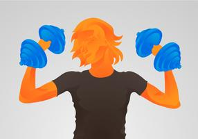 Free Dumbell Vector Illustration