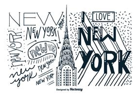New York Building Hand Drawn Vector