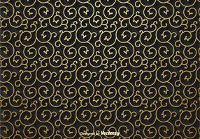 Golden Scrollwork Vector Background