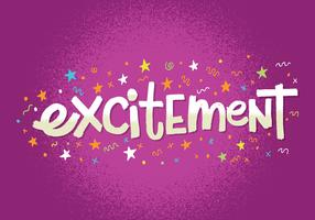 Excitement Lettering