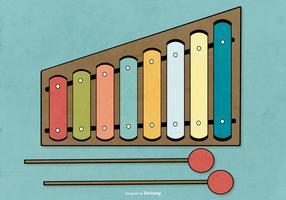 Flat Style Marimba Vector Illustration