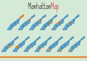 Vector of Manhattam Map