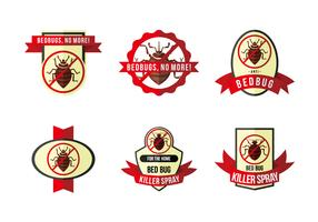 Anti bed bug label flat vector