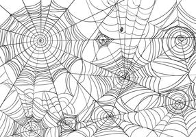 Black And White Spiderweb Vector Illustration