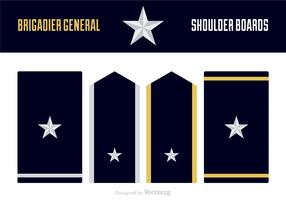 Free Vector Brigadier General Uniform Epaulets