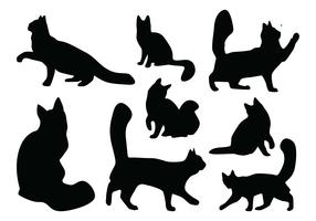 Cat Silhouette Vectors