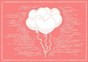 Free Hand Drawn Valentines Vector Background