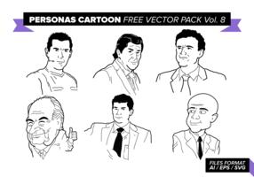 Personas Cartoon Free Vector Pack Vol. 8