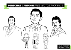 Personas Cartoon Free Vector Pack Vol. 9
