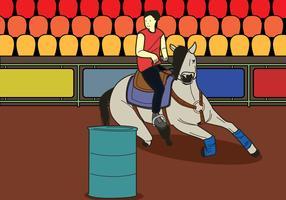 Free Barrel Racing Illustration