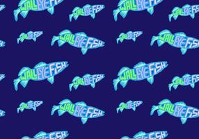 Free Walleye Seamless Pattern Vector Illustration