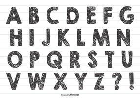 Grunge Style Hand Drawn Alphabet