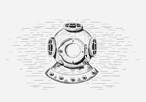 Free Vector Diving Helmet Illustration