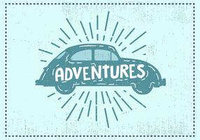 Free Hand Drawn Vintage Car Background